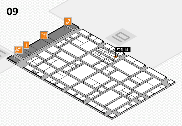 EuroShop 2017 hall map (Hall 9): stand E25-14