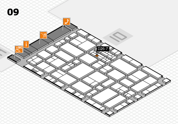 EuroShop 2017 hall map (Hall 9): stand D26-7