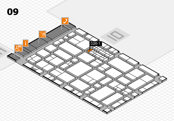 EuroShop 2017 hall map (Hall 9): stand D26-1