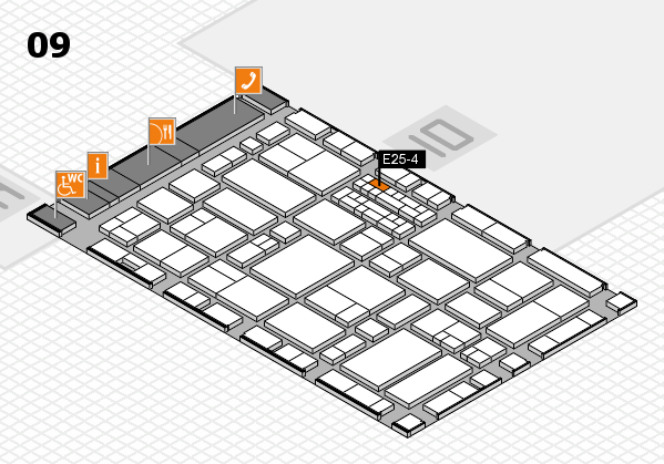 EuroShop 2017 hall map (Hall 9): stand E25-4
