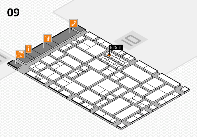 EuroShop 2017 hall map (Hall 9): stand E25-3