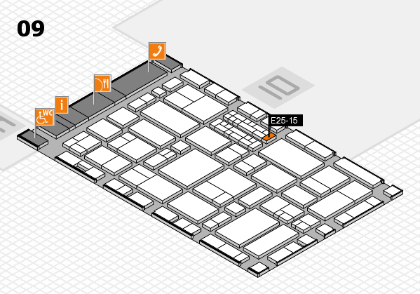 EuroShop 2017 hall map (Hall 9): stand E25-15