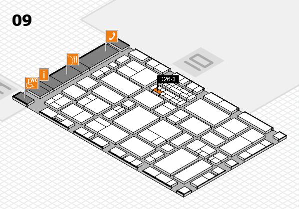 EuroShop 2017 hall map (Hall 9): stand D26-3