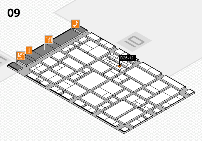 EuroShop 2017 hall map (Hall 9): stand D26-12