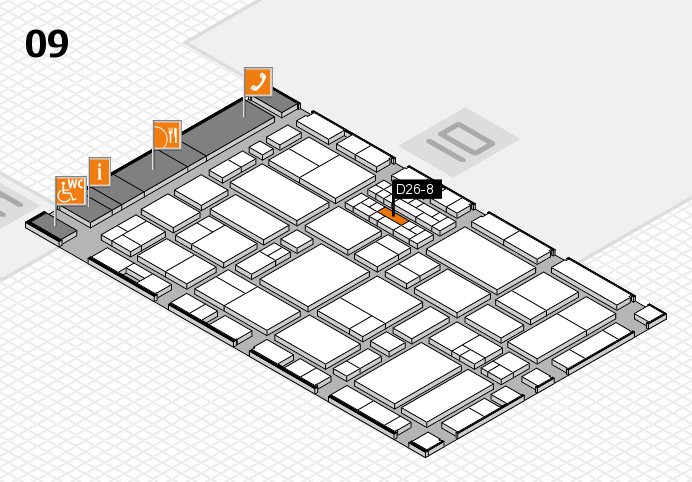 EuroShop 2017 hall map (Hall 9): stand D26-8
