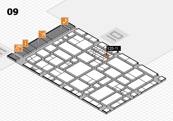 EuroShop 2017 hall map (Hall 9): stand E25-11