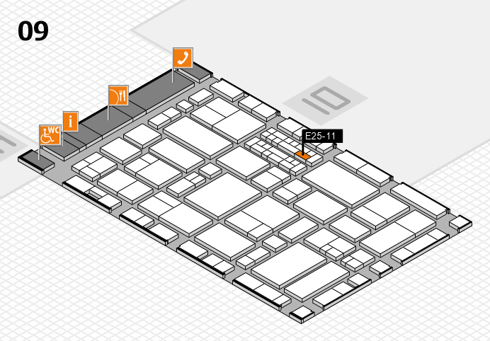EuroShop 2017 hall map (Hall 9): stand E25-11