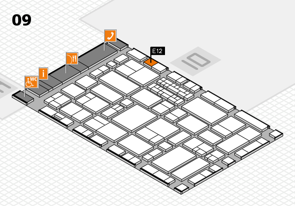 EuroShop 2017 hall map (Hall 9): stand E12