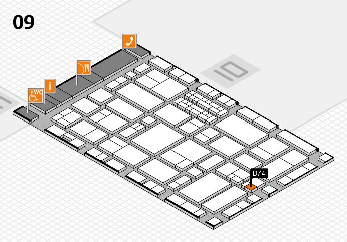 EuroShop 2017 hall map (Hall 9): stand B74