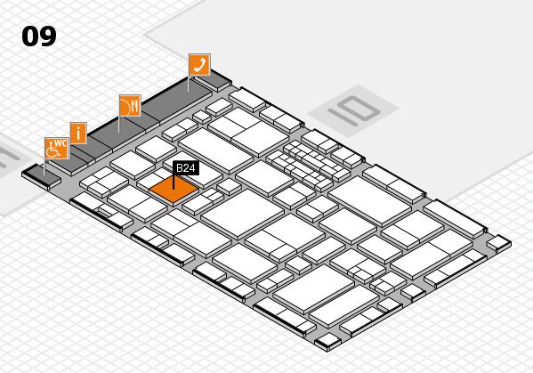 EuroShop 2017 hall map (Hall 9): stand B24