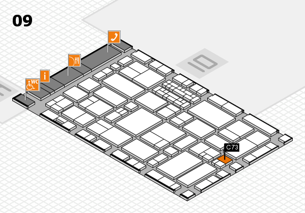 EuroShop 2017 hall map (Hall 9): stand C73