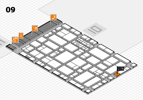 EuroShop 2017 hall map (Hall 9): stand C78