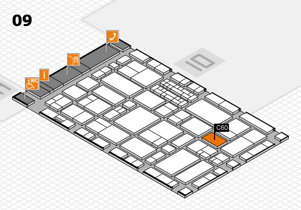 EuroShop 2017 hall map (Hall 9): stand C60