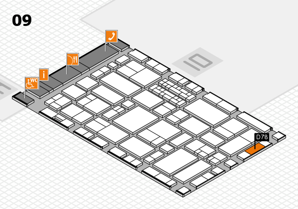 EuroShop 2017 hall map (Hall 9): stand D78
