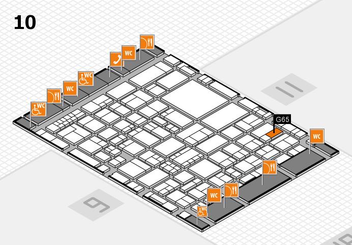 EuroShop 2017 hall map (Hall 10): stand G65