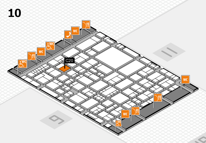 EuroShop 2017 hall map (Hall 10): stand C20