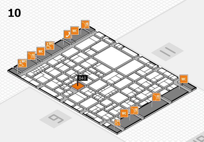 EuroShop 2017 hall map (Hall 10): stand B40