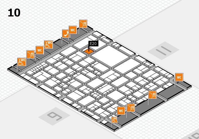 EuroShop 2017 hall map (Hall 10): stand E20
