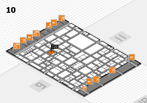 EuroShop 2017 hall map (Hall 10): stand C22