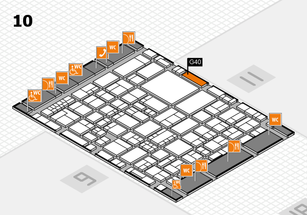 EuroShop 2017 hall map (Hall 10): stand G40