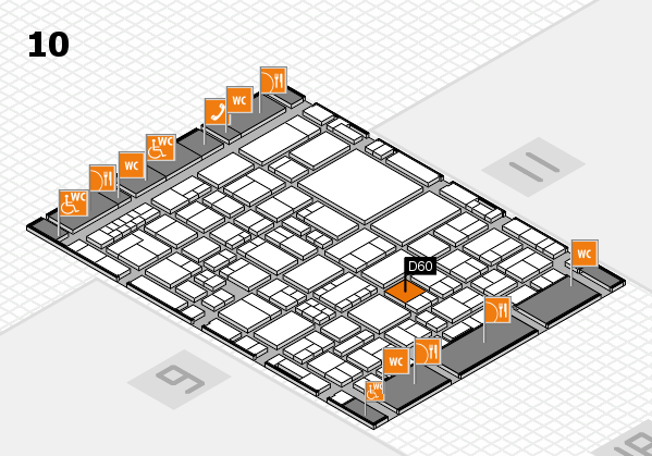 EuroShop 2017 hall map (Hall 10): stand D60