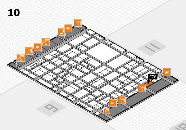 EuroShop 2017 hall map (Hall 10): stand E78