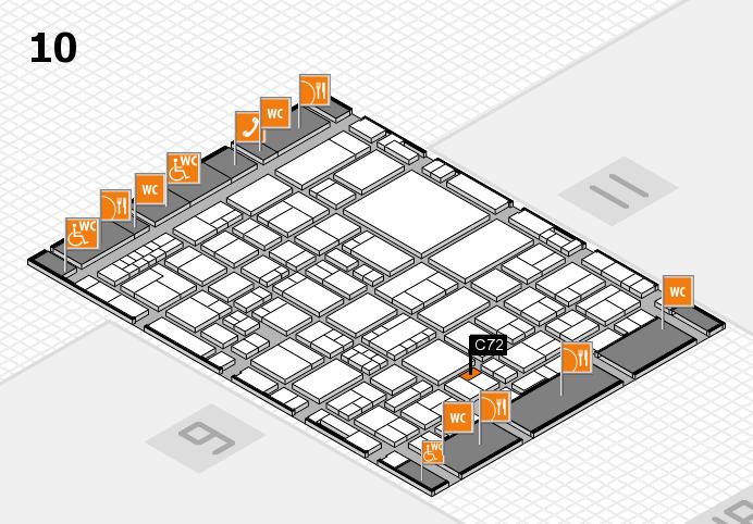 EuroShop 2017 hall map (Hall 10): stand C72