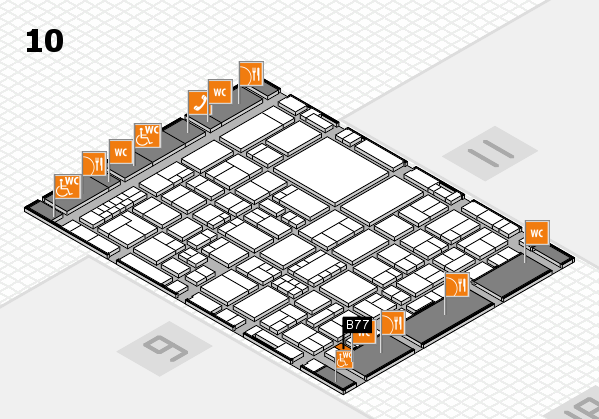 EuroShop 2017 hall map (Hall 10): stand B77