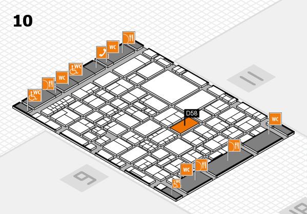 EuroShop 2017 hall map (Hall 10): stand D58