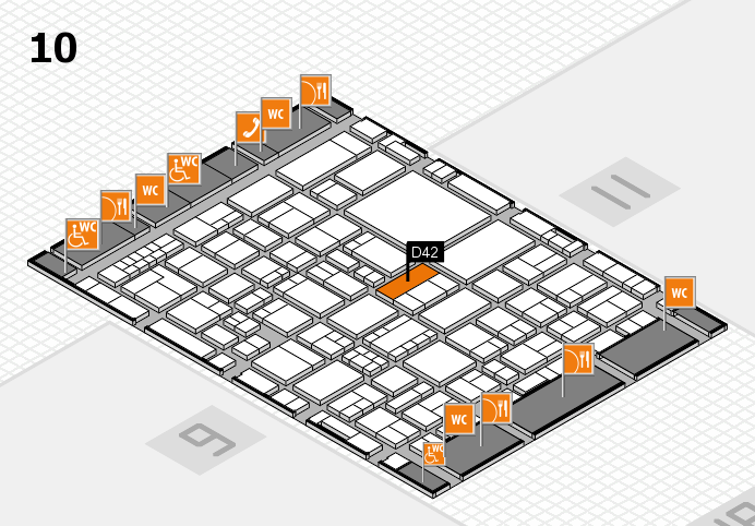 EuroShop 2017 hall map (Hall 10): stand D42