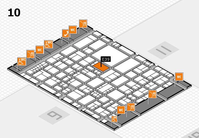 EuroShop 2017 hall map (Hall 10): stand E39