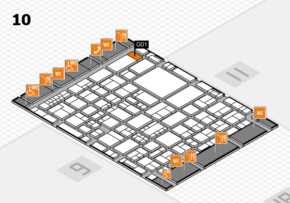 EuroShop 2017 hall map (Hall 10): stand G01