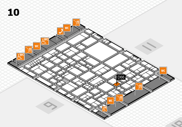EuroShop 2017 hall map (Hall 10): stand D66