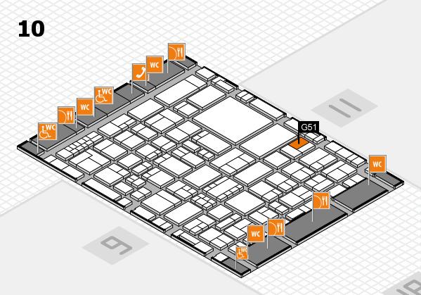 EuroShop 2017 hall map (Hall 10): stand G51