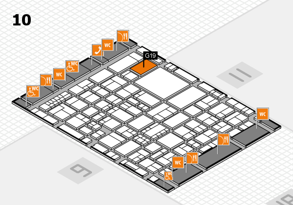 EuroShop 2017 hall map (Hall 10): stand G19