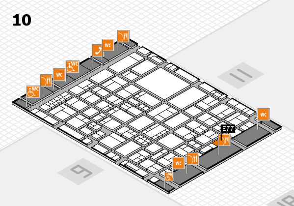 EuroShop 2017 hall map (Hall 10): stand E77