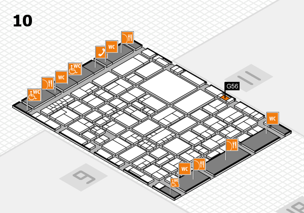 EuroShop 2017 hall map (Hall 10): stand G56