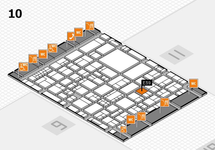 EuroShop 2017 hall map (Hall 10): stand E59