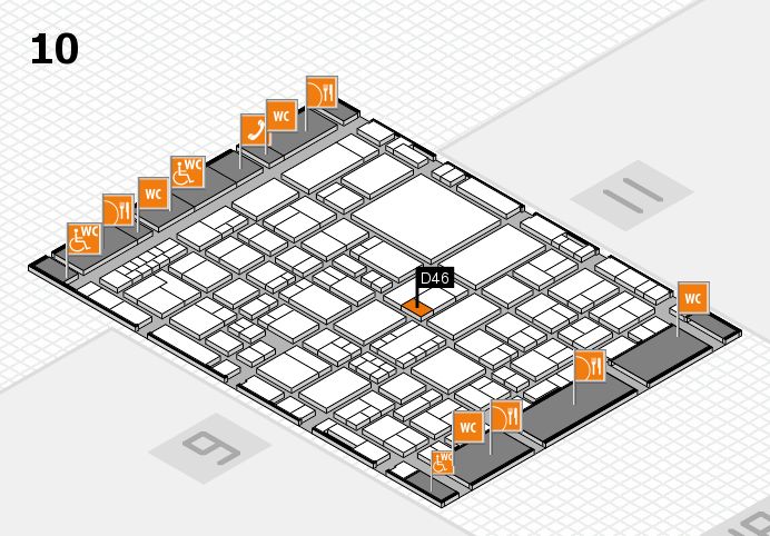 EuroShop 2017 hall map (Hall 10): stand D46