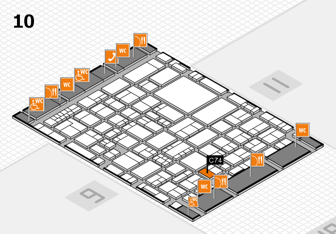 EuroShop 2017 hall map (Hall 10): stand C74