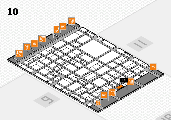 EuroShop 2017 hall map (Hall 10): stand D78