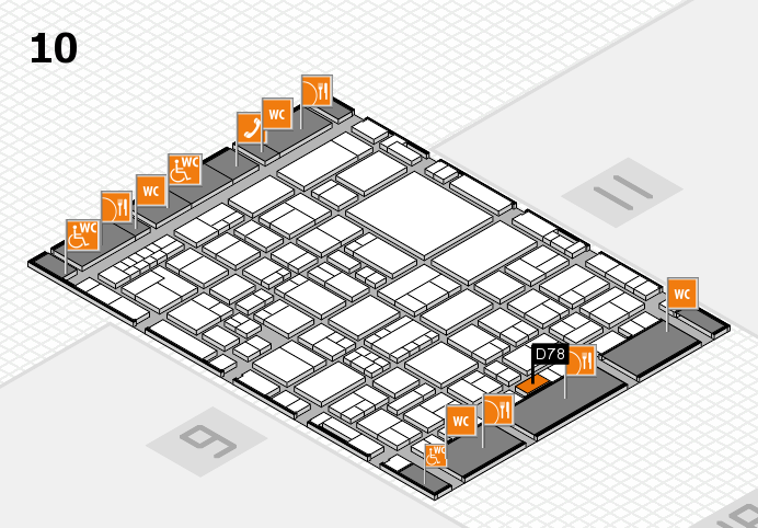 EuroShop 2017 hall map (Hall 10): stand D78