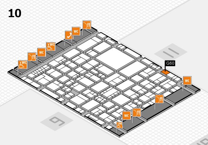 EuroShop 2017 hall map (Hall 10): stand G60