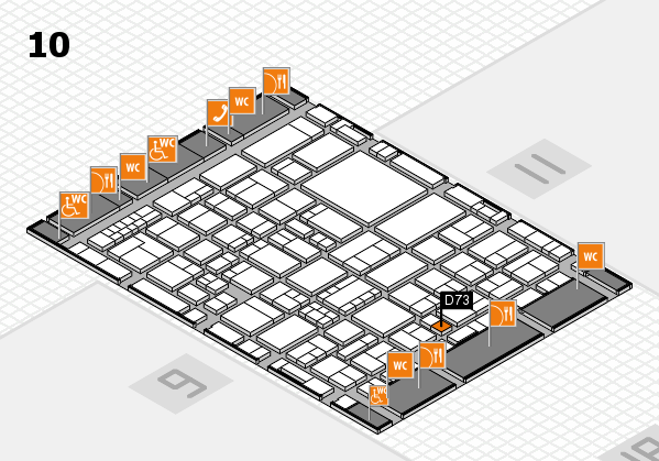 EuroShop 2017 hall map (Hall 10): stand D73
