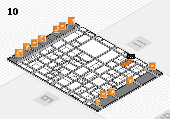 EuroShop 2017 hall map (Hall 10): stand F60