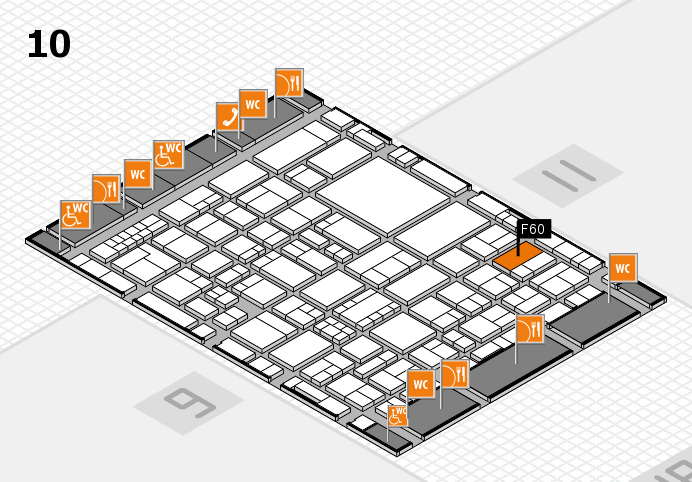 EuroShop 2017 hall map (Hall 10): stand F60