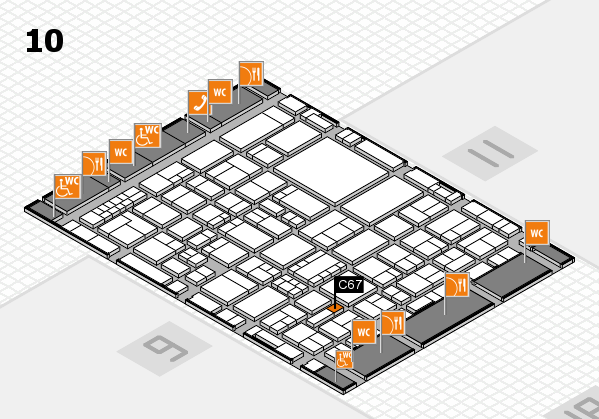 EuroShop 2017 hall map (Hall 10): stand C67
