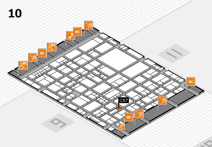EuroShop 2017 hall map (Hall 10): stand C67
