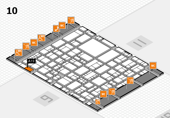 EuroShop 2017 hall map (Hall 10): stand A19