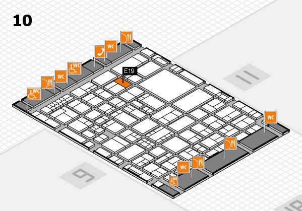 EuroShop 2017 hall map (Hall 10): stand E19